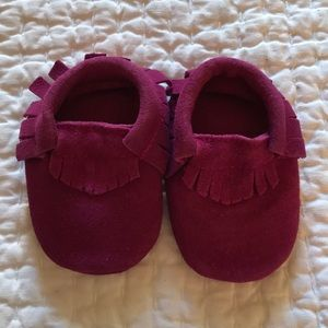 Other - NWT Baby Suede Fringe Moccasin Bootie